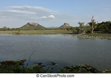 The landscape at Sigiriya in Sri Lanka
