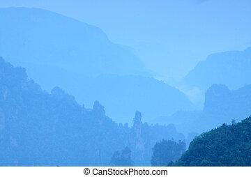 The landscape in Zhangjiajie in the morning
