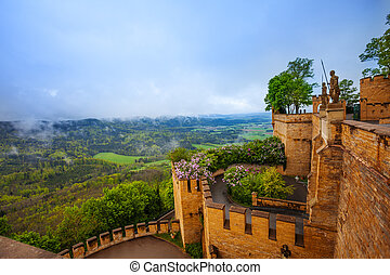 The landscape view and inner yard of Hohenzollern