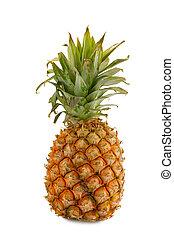 full pineapple - the large full pineapple isolated on white ...