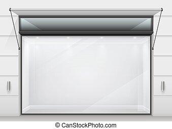 The large glass showcase