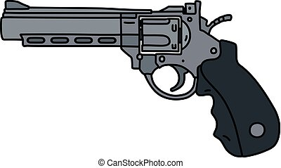 The large steel revolver