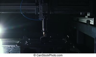the laser welding close up