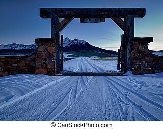 Ranch - The Last Dollar Ranch in winter with a view of the...