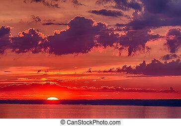 The last rays of sun