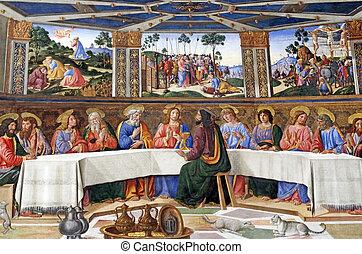 The Last Supper in Sistine Chapel, Vatican City