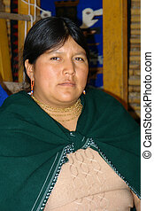 latin woman - the latin woman in national clothes. ecuador....