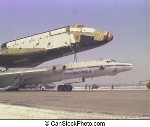 The launch of space shuttle Buran.