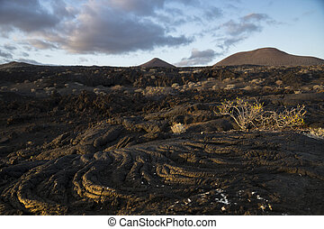 The lava flow