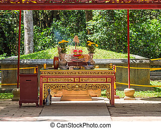 The Le Thai To mausoleum in Thanh Hoa, Vietnam