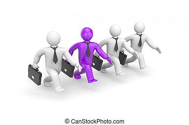 The leader. Success concept. 3d illustration