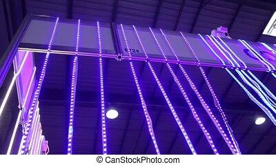 The LED lighting strips ribbons tape saving light technology