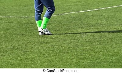 the legs of the goalkeeper during the world Cup of Amateur clubs