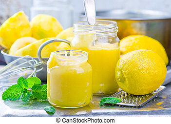 the lemon curd and products for his preparation