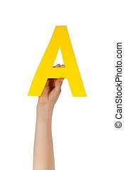 letter A of the alphabet