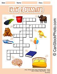 The Letter B Crossword illustration