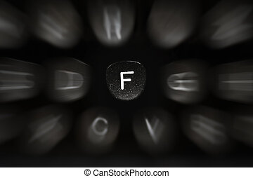 The letter of the alphabet in English F