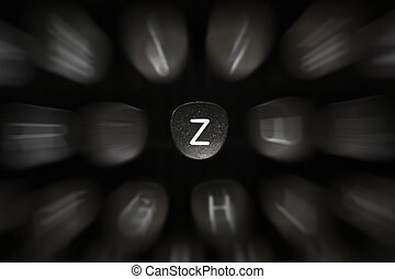 The letter of the alphabet in English Z