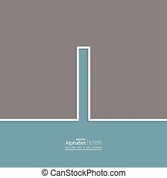 The letter I of the alphabet. abstract background. Outline. Logo or corporate identity