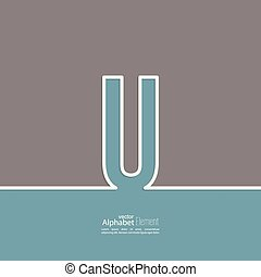 The letter U of the alphabet. abstract background. Outline. Logo or corporate identity