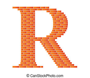 The letter R. - The letter R is shown in the picture.