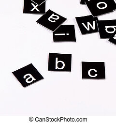 The letters of the English alphabet