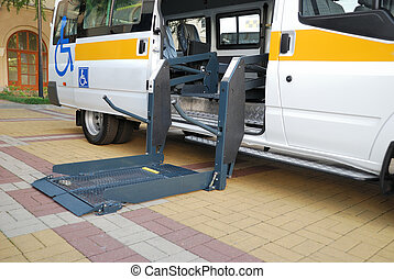 The lift for Wheelchair - The automobile equipped with the...
