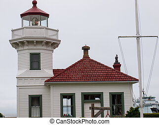 The Lighthouse at Mukilteo in Washington State USA