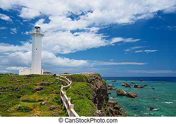 The Lighthouse in HIGASHI HENNA Cape, Okinawa Prefecture/...