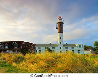the lighthouse in Timmendorf on the island of Poel in northern Germany