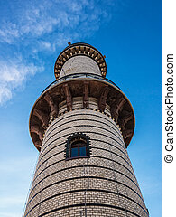 The lighthouse in Warnemuende (Germany).