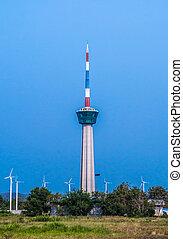 The lighthouse tower at Laemchabangport, Thailand