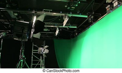 The Lighting Set Green Screen - Film lighting set equipment...