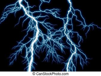 the lightning on background