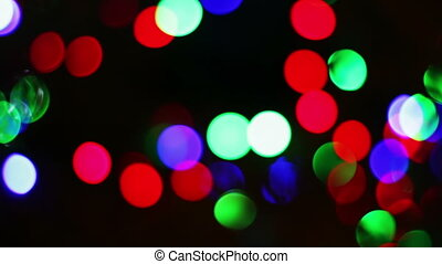 The lights of the Christmas tree