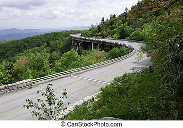 Linn Cove Viaduct - The Linn Cove Viaduct. Part of the Blue...