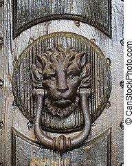 the lion knocker