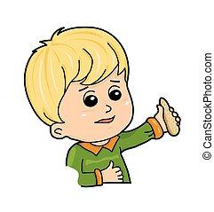 little blond boy