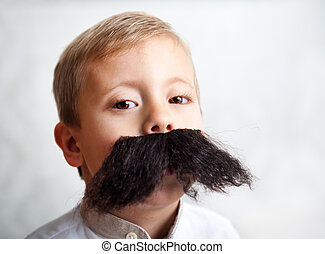 boy with a big mustache