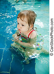 the little girl in the water