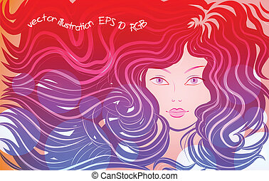 the little mermaid, vector illustration