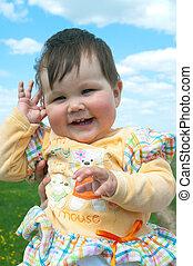 The little smiling girl