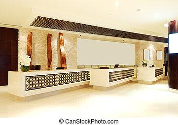 The lobby of luxury hotel, Dubai, UAE