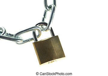 The lock with chain
