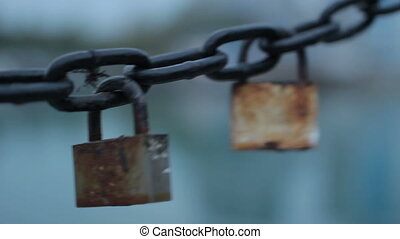 The locks on the chain