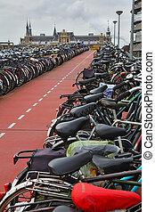 The long bike parking