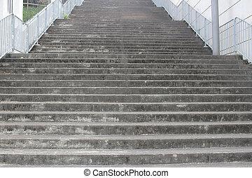 stair - the long  stair at hong kong north point