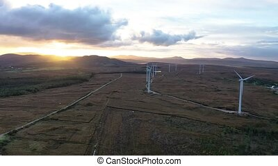The Loughderryduff windfarm is producing between Ardara and Portnoo in County Donegal