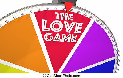 The Love Game Spinning Wheel Play Romance 3d Illustration