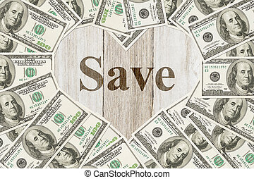 The love of saving money message
